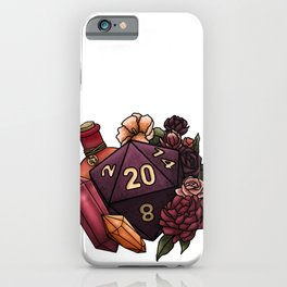 Sorcerer Class D20 - Tabletop Gaming Dice iPhone Case