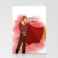 gryffindor Stationery Cards featuring Godric Gryffindor by Hailey Del Rio