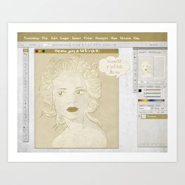 Pretty on the Inside Art Print