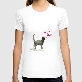 I Love Cats No. 3a by Kathy Morton Stanion T-shirt