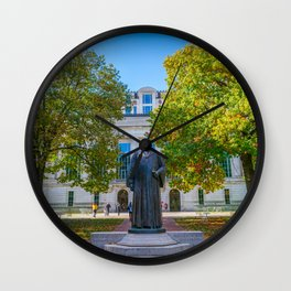Ohio State Campus Library Columbus Print Wall Clock