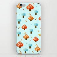 mushroom iPhone & iPod Skins featuring Mushroom by Kakel