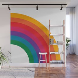 Retro Bright Rainbow - Right Side Wall Mural