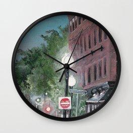 Old Building Street Lights Massachusetts Wall Clock