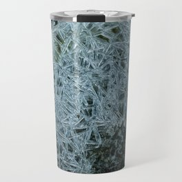 Ice pattern, frost decorating little stream of water Travel Mug