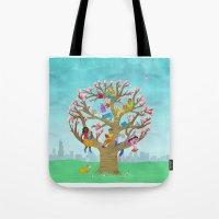 Tree Readers Tote Bag