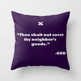 Ten Commandments...TEN Throw Pillow