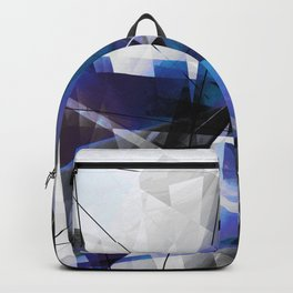 Divided by Glass - Geometic Abstract Art Backpack