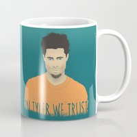 tyler durden Mugs featuring In Tyler we trust by Eveline