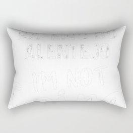 Rafeiro-do-Alentejo-tshirt,-Rafeiro-do-Alentejo-always-with-me Rectangular Pillow