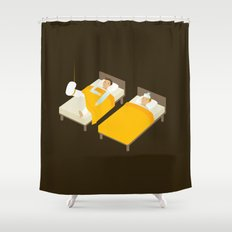 Sick In Bed Shower Curtain