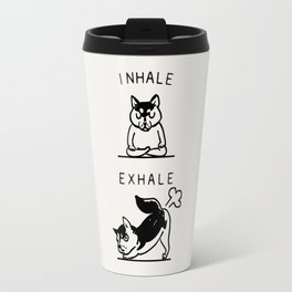 Inhale Exhale Husky Travel Mug