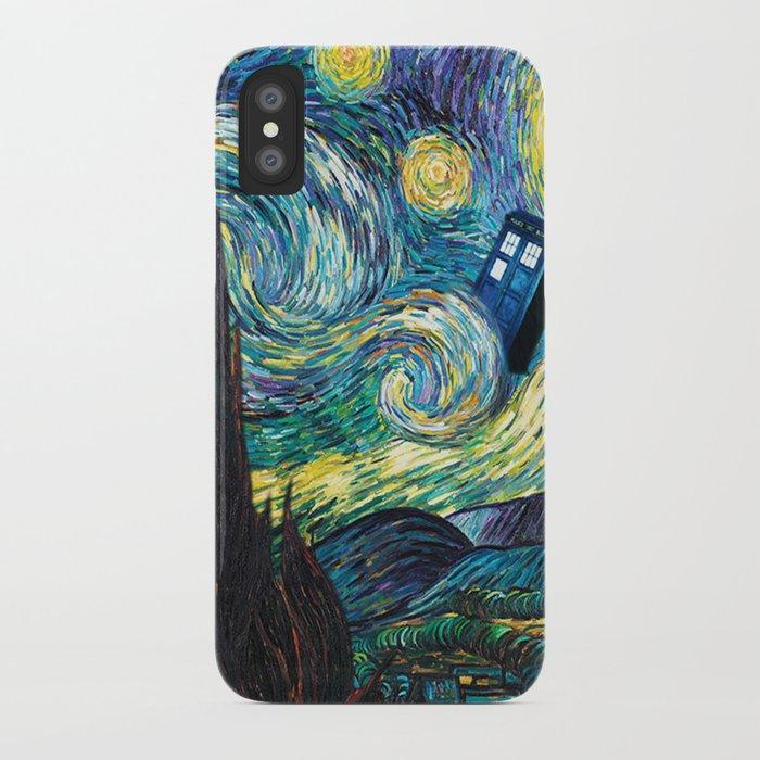 tardis art starry painting night iphone case