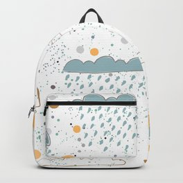 Hand Drawn Clouds Backpack