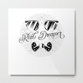 Real Dreamer Bow tie Sunglass Metal Print