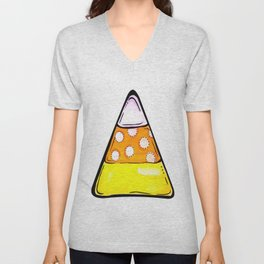 Candy Corn - White Unisex V-Neck