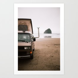 Cape Kiwanda Beach Westfalia Art Print