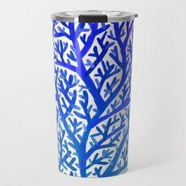 Fan Coral – Blue Ombré Travel Mug
