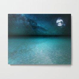 Night Swimming Metal Print