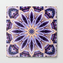 Mandala star purple Metal Print