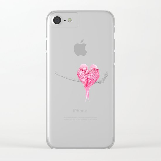 Birds Love Clear iPhone Case