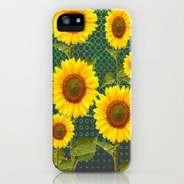 MODERN OPTICAL ART SUNFLOWER FIELD iPhone Case