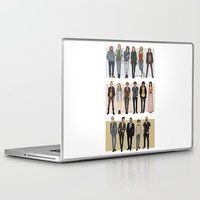 cargline Laptop & iPad Skins featuring Character Line Up by cargline