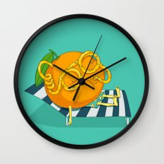 Orange Juice Wall Clock