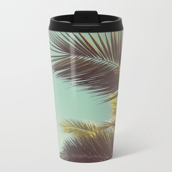 Autumn Palms Metal Travel Mug