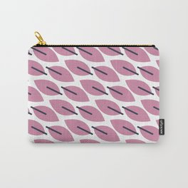 Geometric Feathers in Lilac Carry-All Pouch