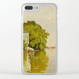 Claude Monet - Houses on the Achterzaan (1871) Clear iPhone Case