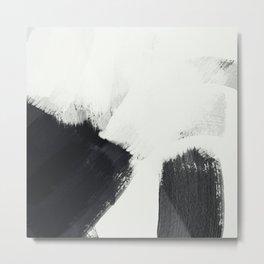 brush stroke black white painted II Metal Print