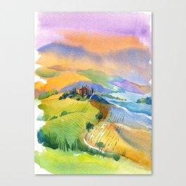 morning Tuscan landscape Canvas Print