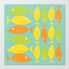 School of Fish Variation One Canvas Print