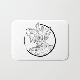 Geometric Goku Bath Mat