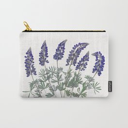 Pressed Lupine Flowers Bouque Carry-All Pouch