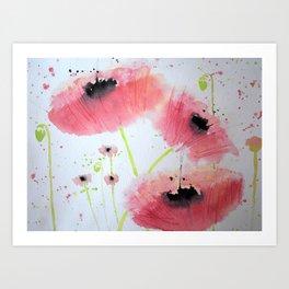 Poppy Ballet Art Print
