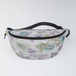 Lavender Grey Flowers Fanny Pack