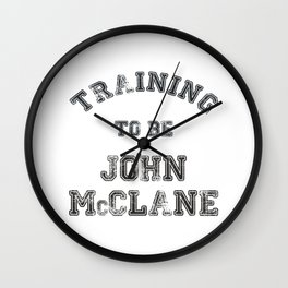 Training to be John McClane Wall Clock
