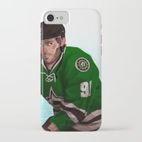 tyler spangler iPhone & iPod Cases featuring tyler seguin by molly murakami