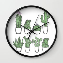 The Cactaceae Collection Wall Clock