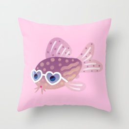 Cory cats in the swimming pool Throw Pillow