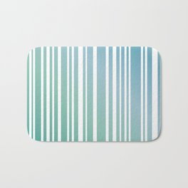 Chalky Pale ocean green stripes Bath Mat