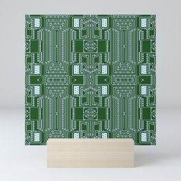Computer Geek Circuit Board Pattern Mini Art Print