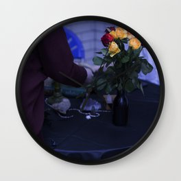 Edgy Roses Wall Clock