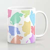 mew Mugs featuring Mew-Boo by Lixxie Berry Illustration