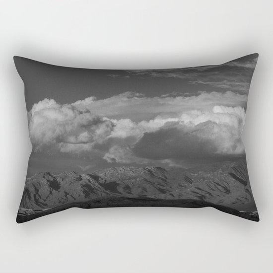 Virgin Mountains - B & W Rectangular Pillow