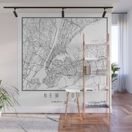 New York New York Street Map Wall Mural