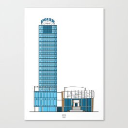 Torre Polar y Teatro del Este Canvas Print