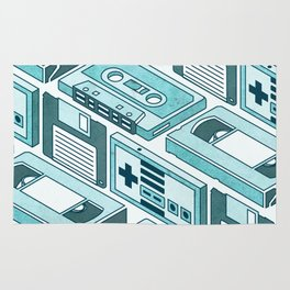 90's pattern-blue Rug